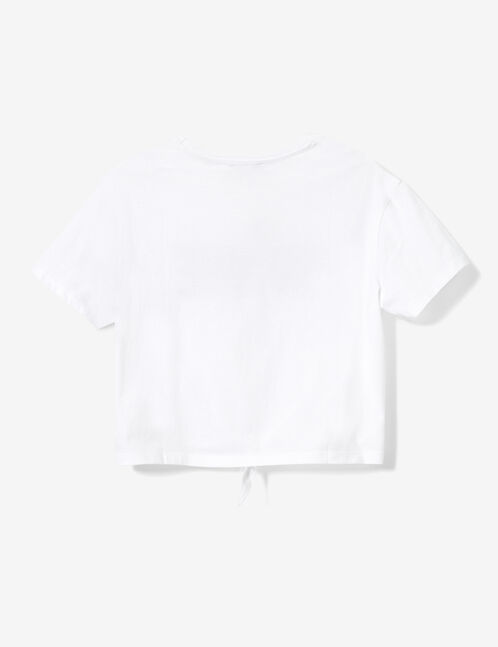 tee-shirt à nouer unique blanc