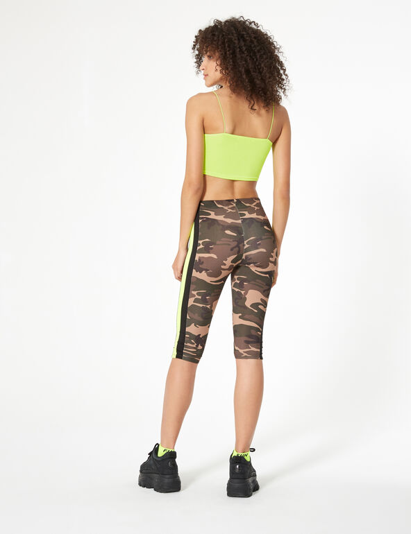 Khaki camouflage cropped leggings