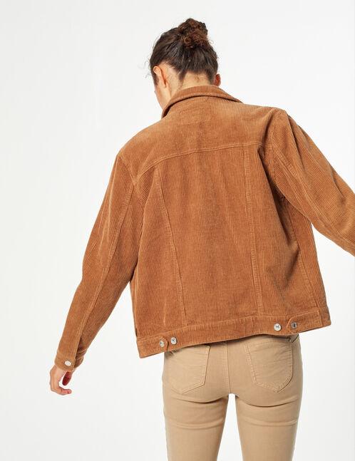 Velvet ribbed jacket