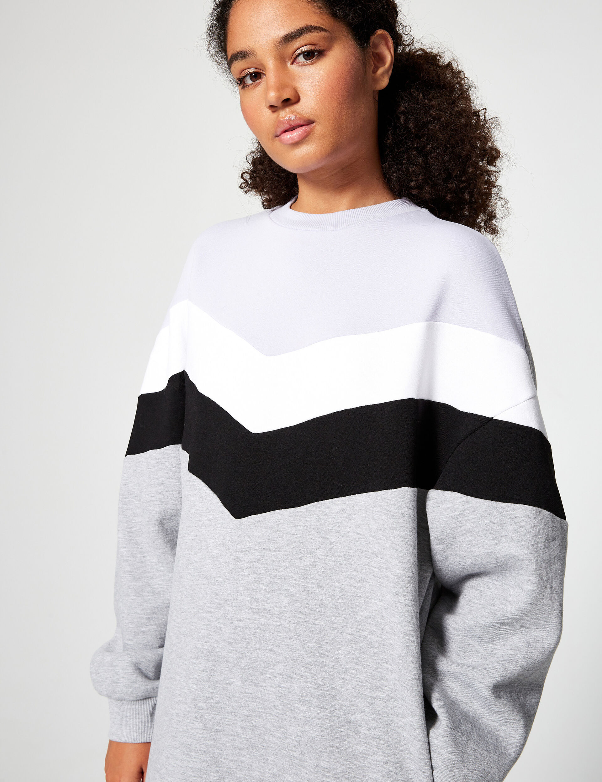 Robe sweat color block