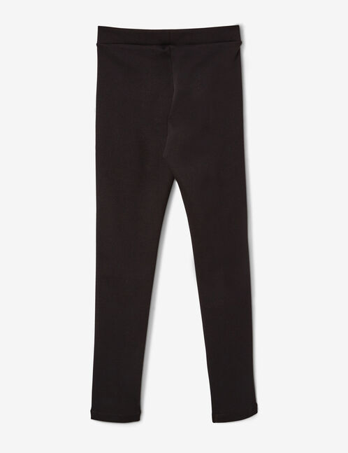 Black jeggings with white trim detail