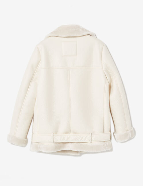 Cream bomber jacket