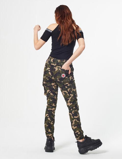 Pantalon cargo camouflage