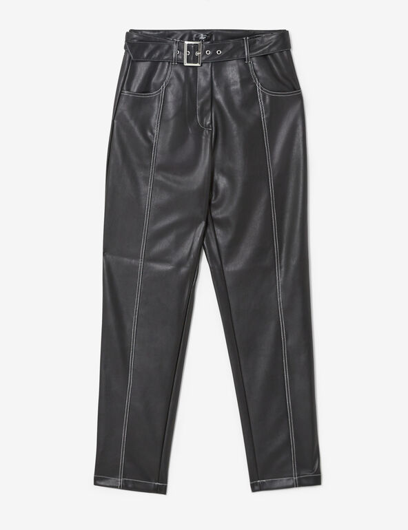 Piccadilly imitation-leather trousers