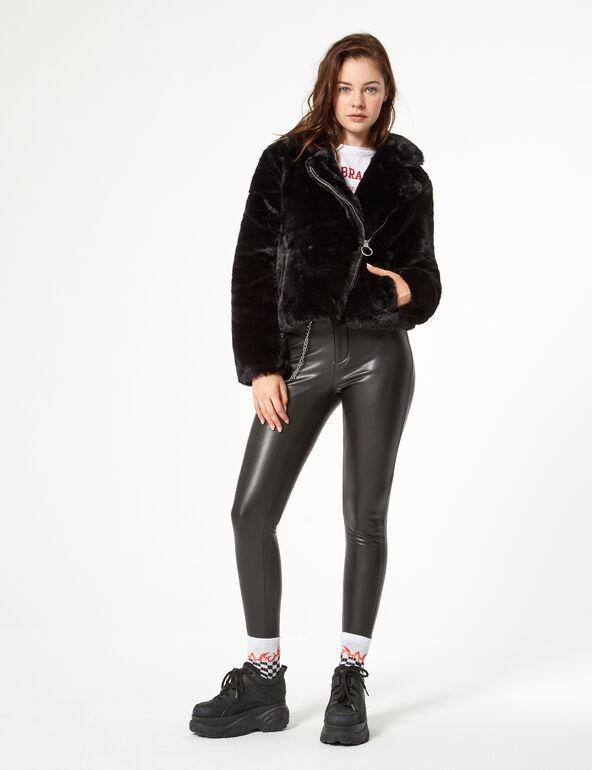 Short faux fur coat