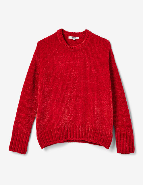 pull chenille rouge