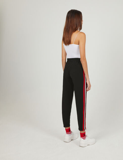 pantalon rayures côtés noir
