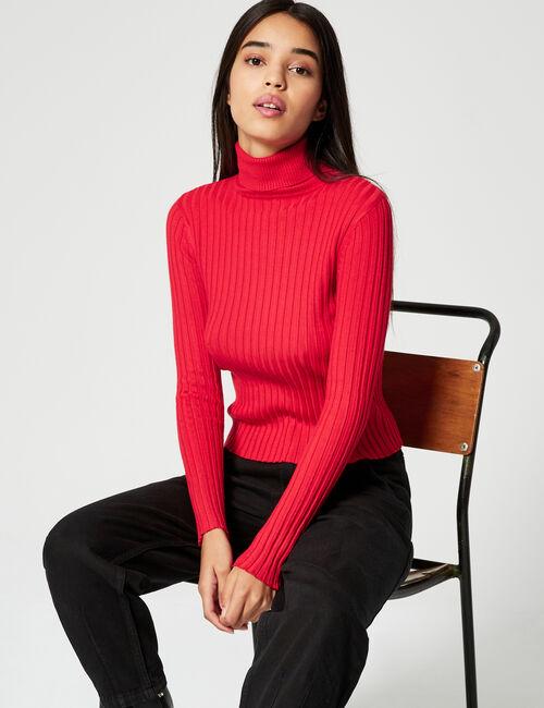 Basic polo-neck jumper