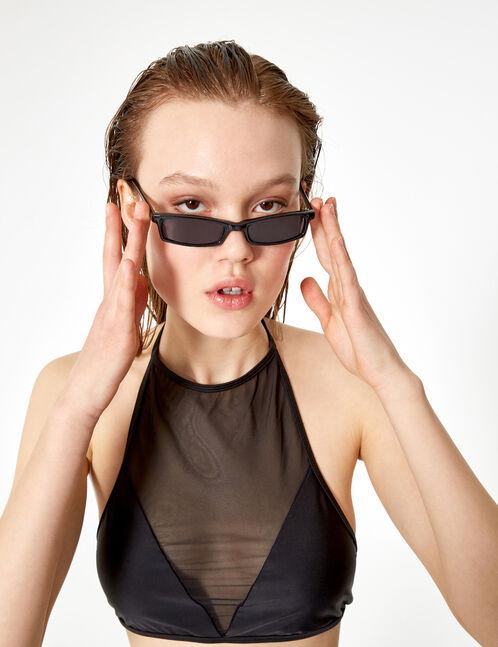 maillot de bain 2 pièces résille noir