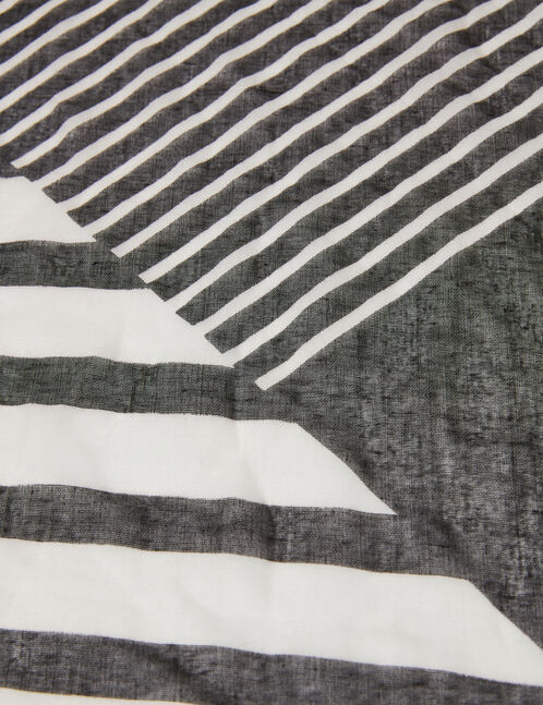 Black and white graphic scarf