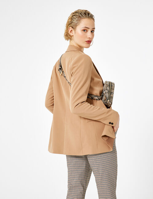 Beige blazer with button detail