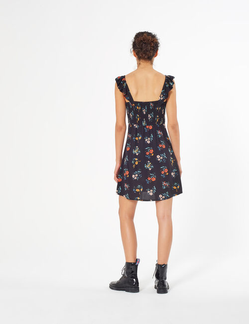 Floral dress with bow
