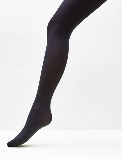 collants opaques noirs