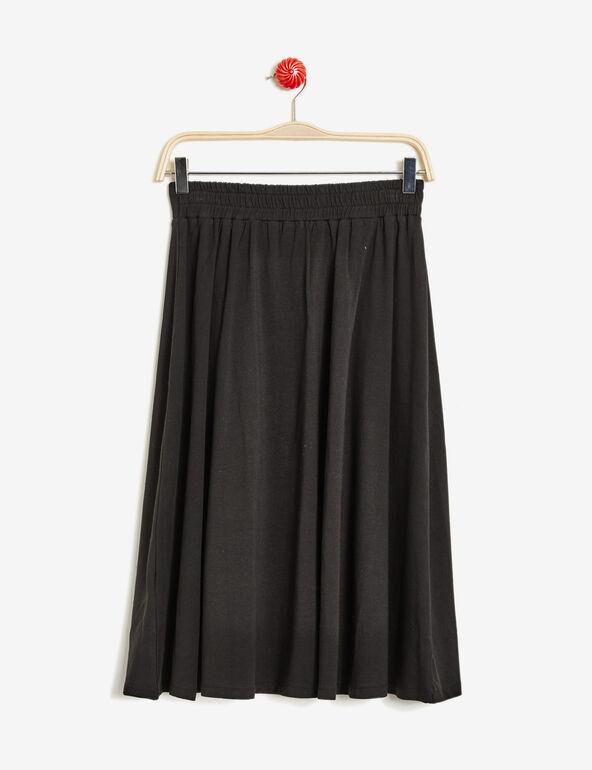 jupe évasée mi-longue noire