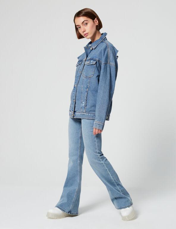 Veste en jean destroy