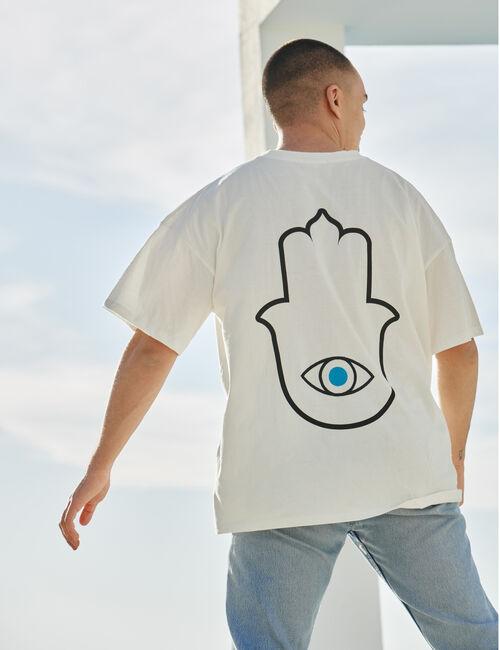 Tee-shirt Khamsa à message brodé