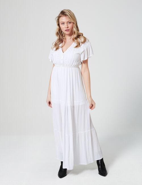 Long dress with macramé details