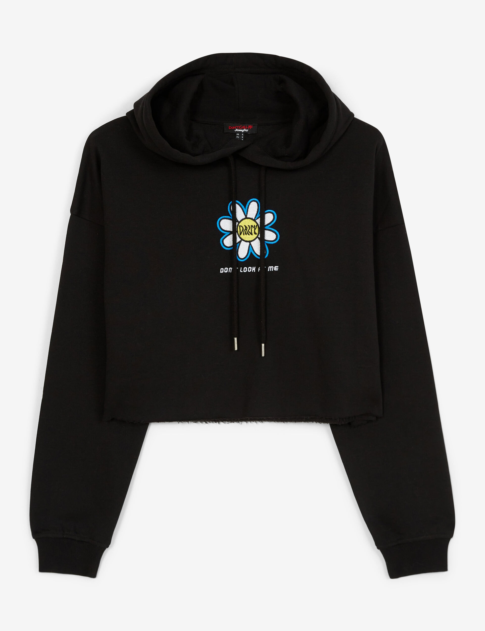 Daisy-print cropped sweatshirt