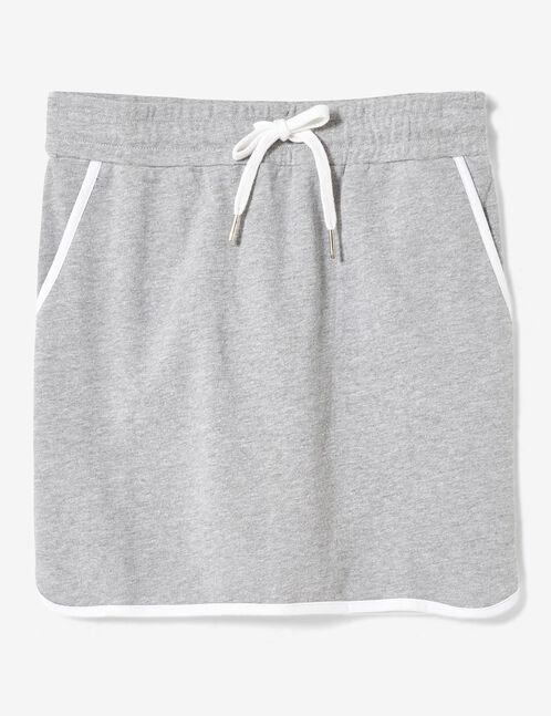 jupe molleton gris chiné