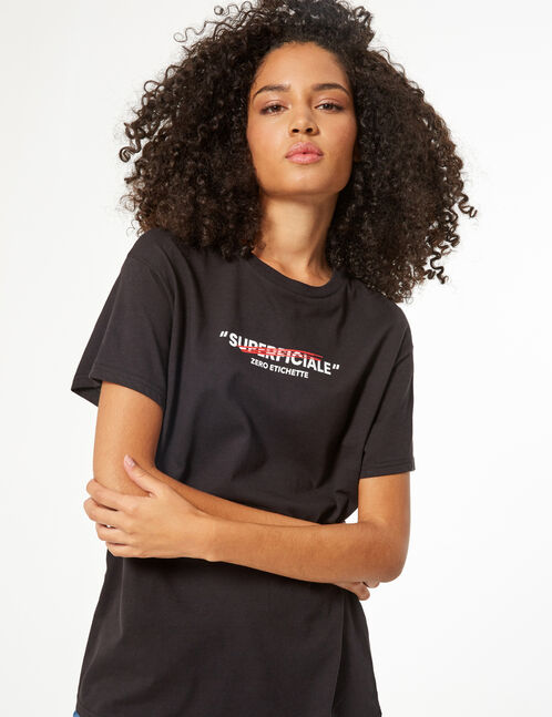 tee-shirt don't call me superficiale
