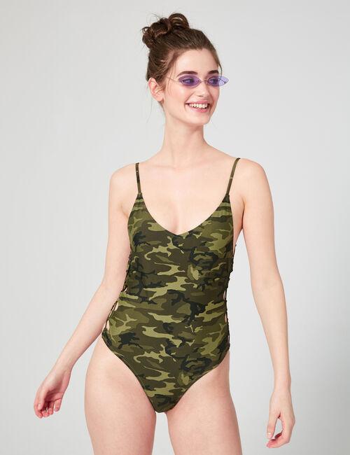 One-piece camo swimsuit