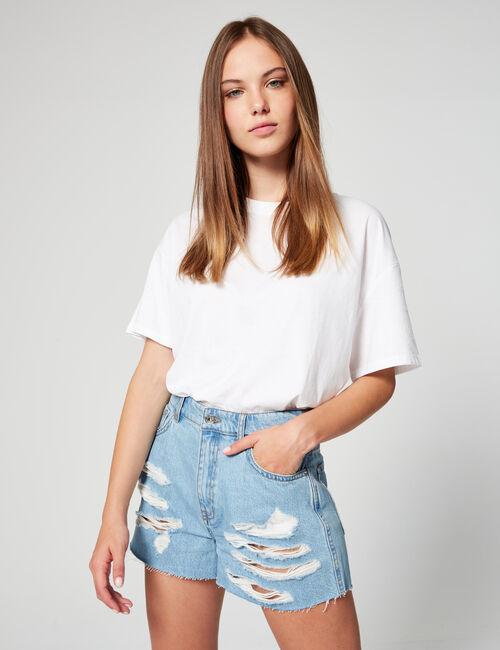 Short mom en jean