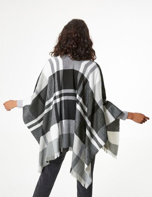 Checked cape