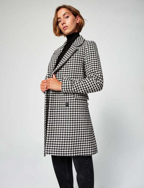 Tailored houndstooth coat