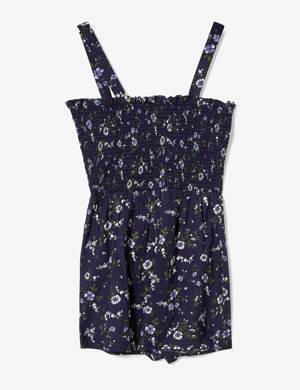 6cd0f341c0 Navy blue floral playsuit woman • Jennyfer