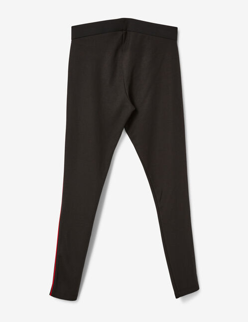 Black and red leggings with thin stripe detail