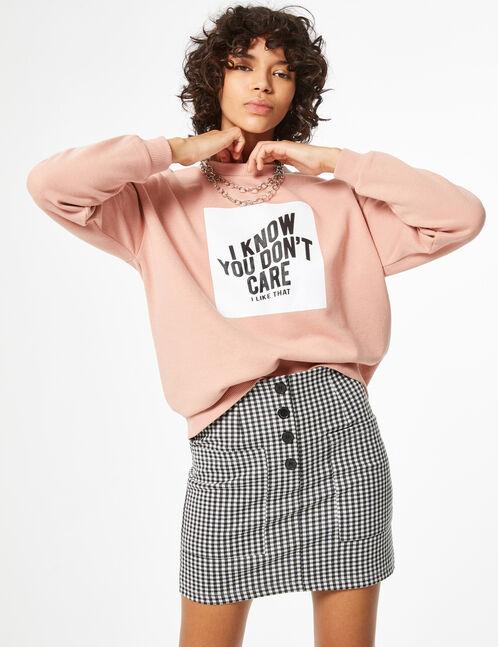 Sweatshirt with text design detail
