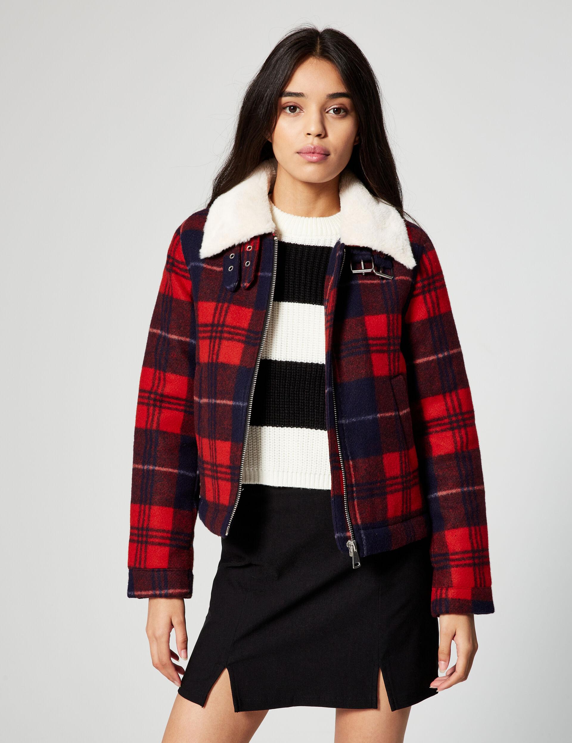 Short tartan coat