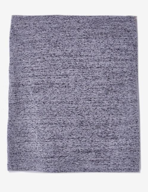 jupe tube à nouer gris chiné