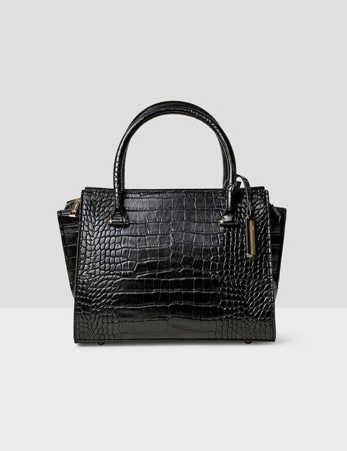 Black python skin handbag