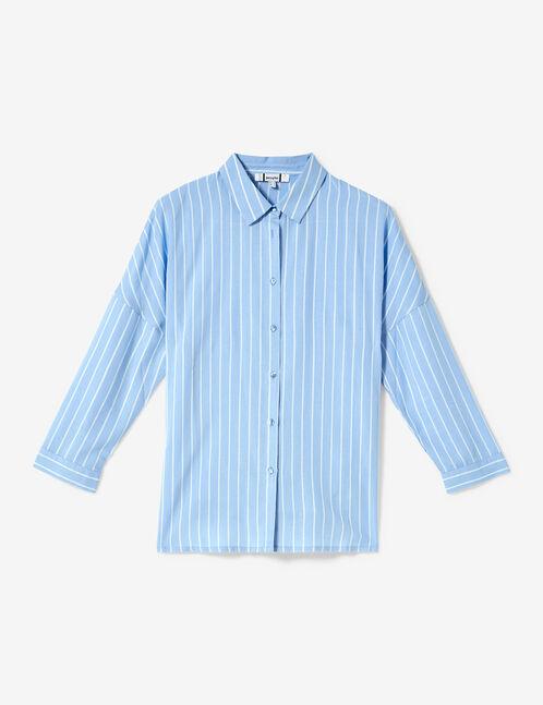 Light blue and white striped shirt