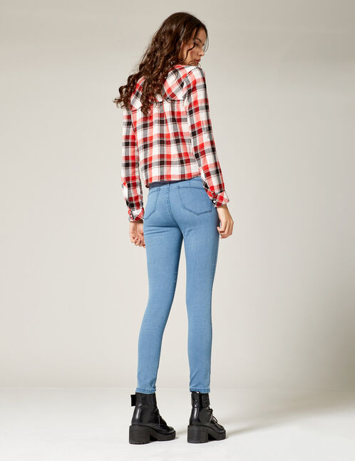 Blue mid-rise jeggings