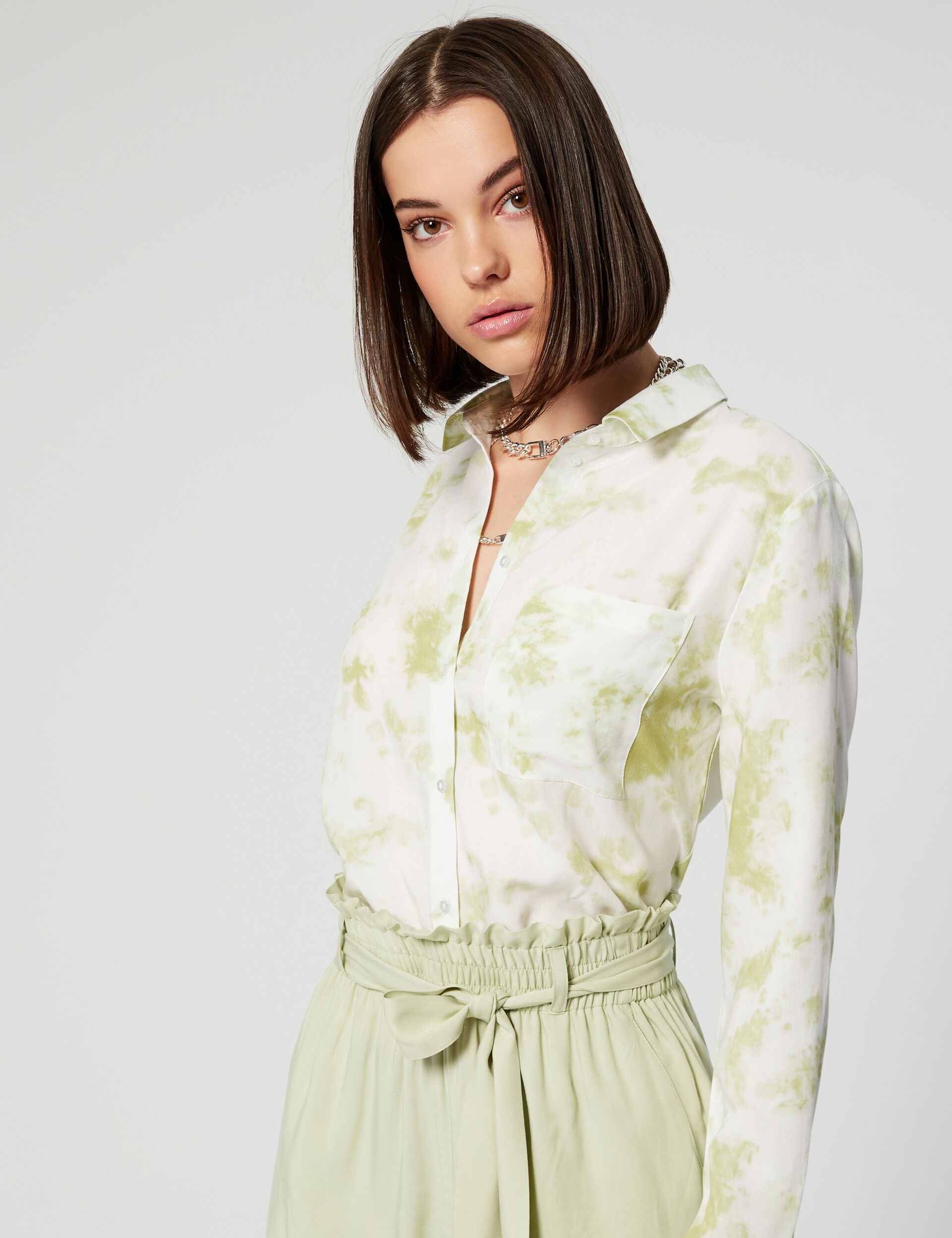 Chemise courte tie and dye