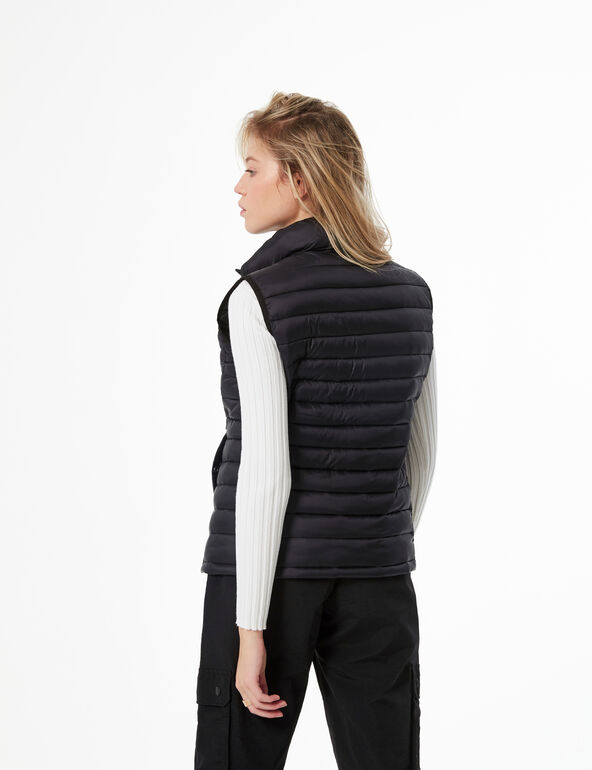 Sleeveless lightweight padded jacket