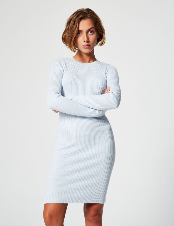 Fitted ribbed dress
