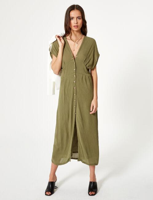 robe longue légère kaki