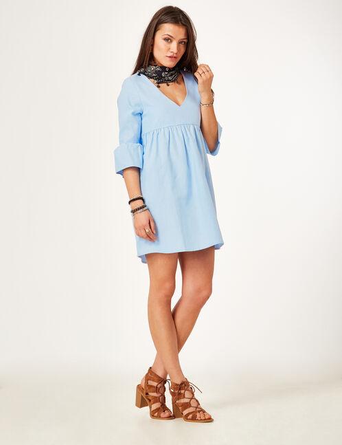 Light blue flared dress