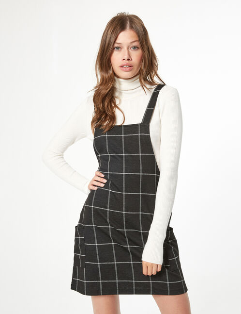 Checked tunic dress
