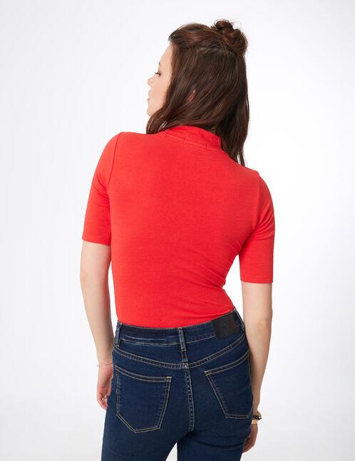 "Red ""iconic girl"" bodysuit"