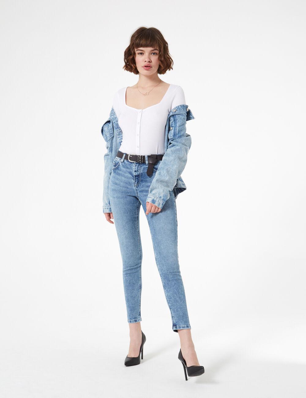 0d454383e0e29b Jean skinny taille haute femme • Jennyfer