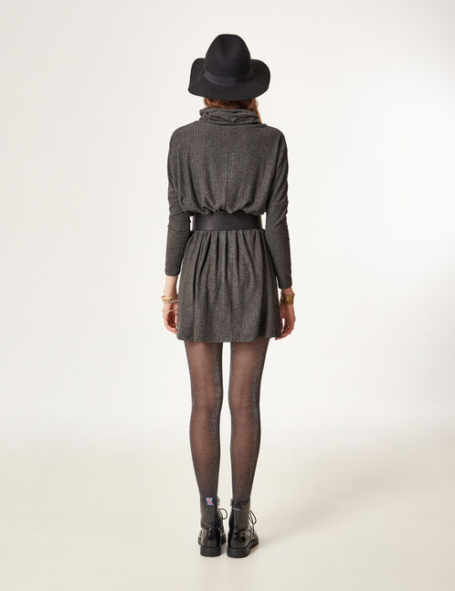 robe pull gris anthracite chiné