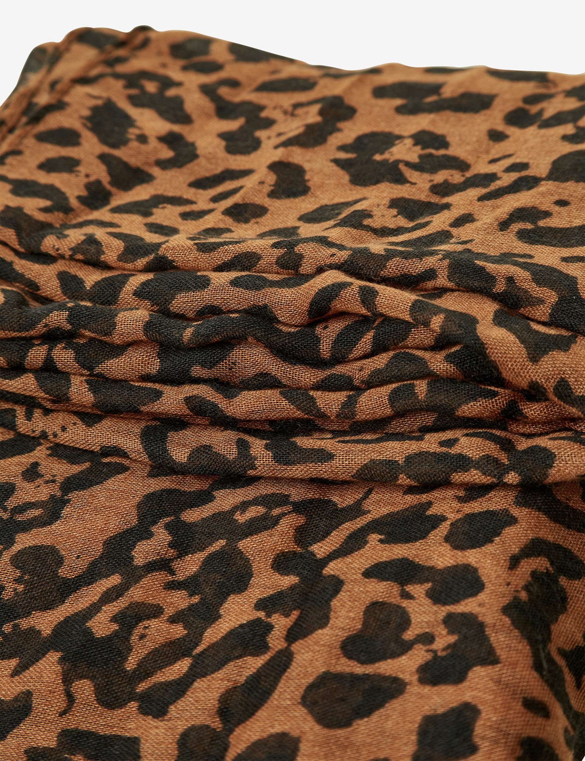 Camel and black leopard print snood
