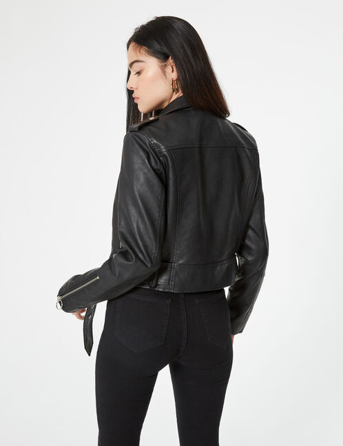biker jacket with belt