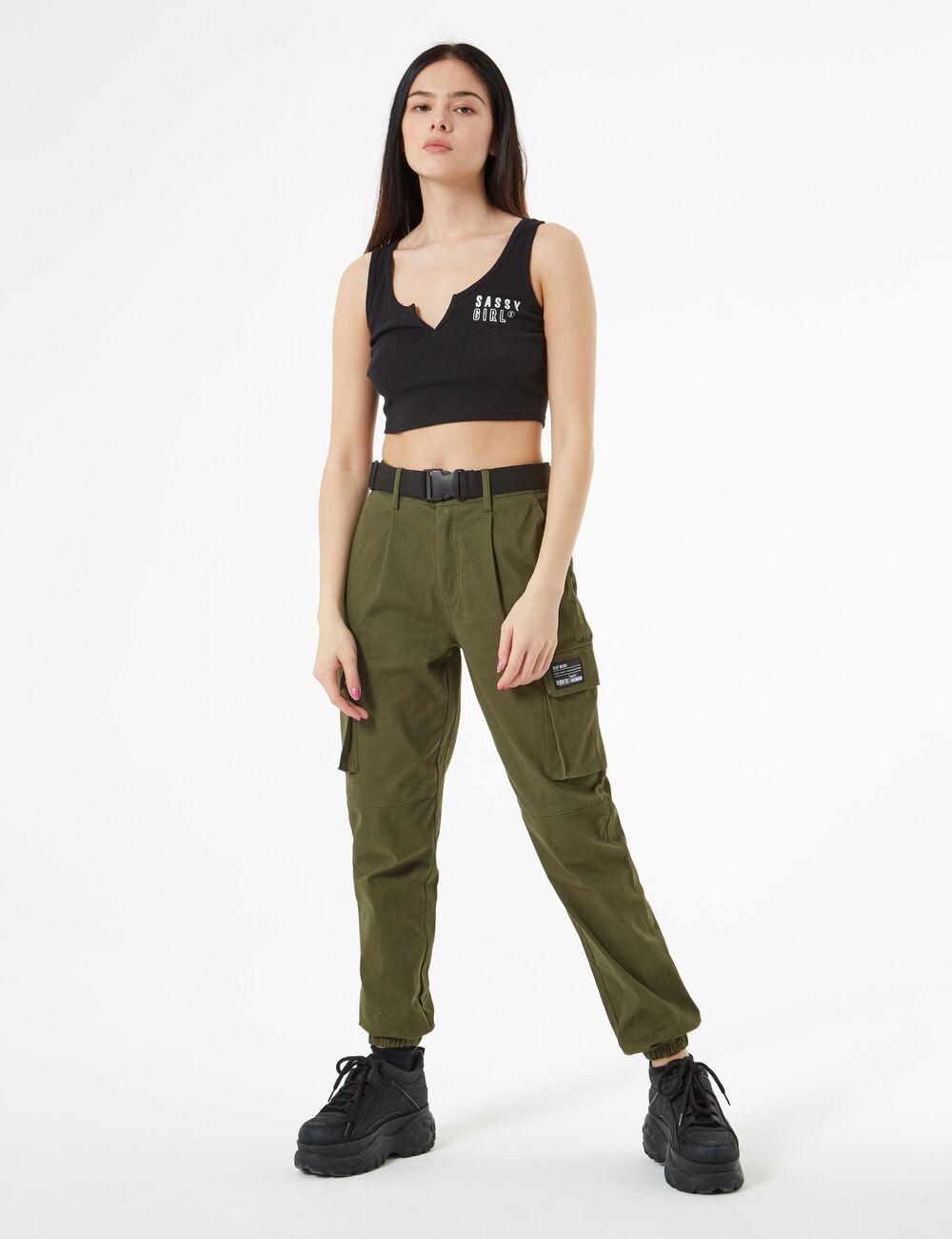 Pantalon cargo femme • Jennyfer