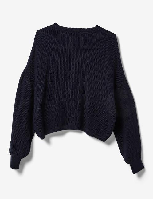 Navy blue textured jumper