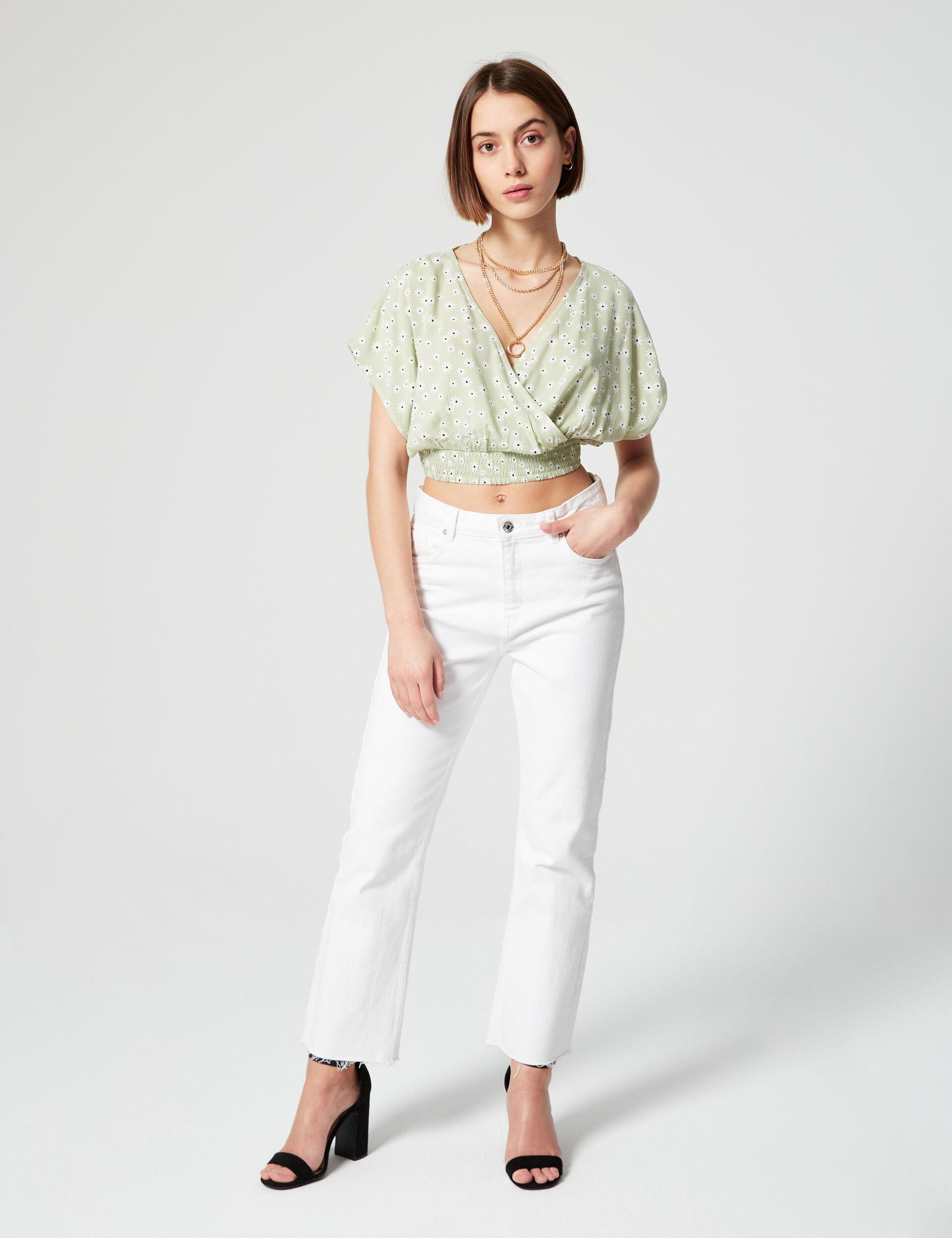 Short floral blouse